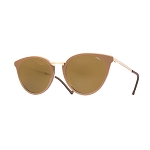 Helios 10672S Cal.51 Light Brown Cat Eye Sunglasses - Brown Lens