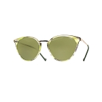 Helios 10672S Cal.51 Green Havana Cat Eye Sunglasses - Green Lens