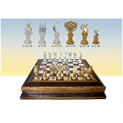 Bank History Chess Set - Gold Frame