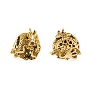 Montegrappa Bruce Lee Dragon Cufflinks - 18kt Gold