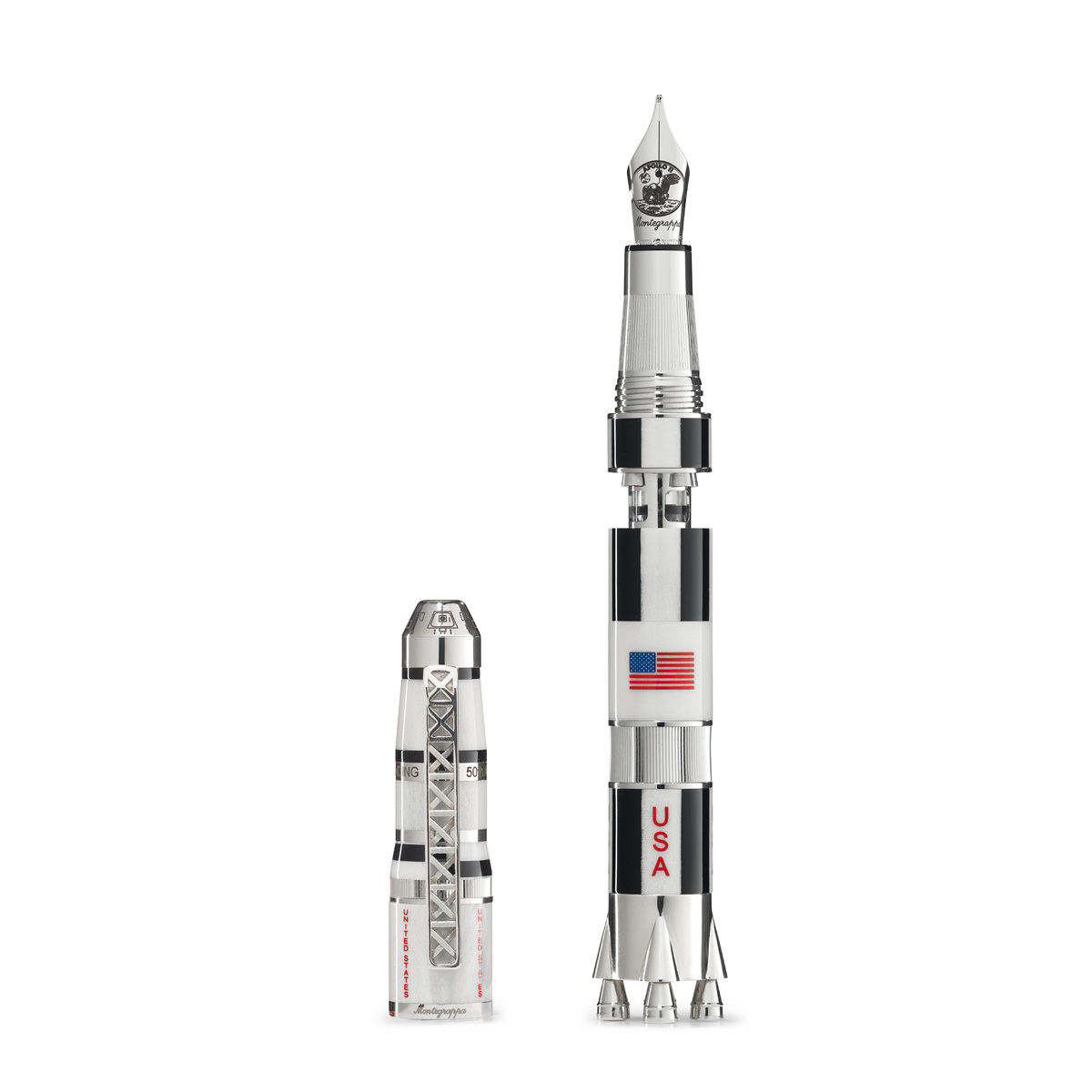 Montegrappa Apollo 11 Moon Landing Fountain Pen - Silver - Limited Edition