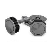 Montegrappa NeroUno PVD Stainless Steel Gun Color Cufflinks - Metal