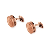 Montegrappa NeroUno Rose Cufflinks - Matching Metal Inlay
