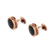 Montegrappa NeroUno Rose Cufflinks - Onyx Inlay