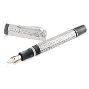 Montegrappa Privilege Gioiello Peacock Silver Fountain Pen