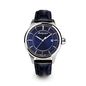 Montegrappa Fortuna Steel Watch - Blue Dial - IDFOWADD