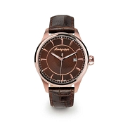 Montegrappa Fortuna Rose Gold PVD Watch - Brown Dial - IDFOWAMM