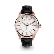 Montegrappa Fortuna Rose Gold PVD Watch - Silver Dial - IDFOWARJ