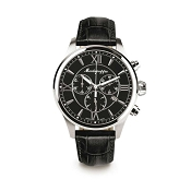 Montegrappa Fortuna Chronograph Watch - Black Dial - IDFOWCLC