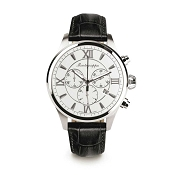 Montegrappa Fortuna Chronograph Watch - Silver Dial - IDFOWCLJ