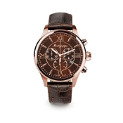 Montegrappa Fortuna Chronograph Rose Gold PVD Watch - IDFOWCMM