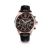 Montegrappa Fortuna Chronograph Rose Gold PVD Watch - IDFOWCRC