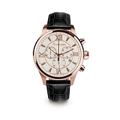 Montegrappa Fortuna Chronograph Rose Gold PVD Watch - IDFOWCRJ