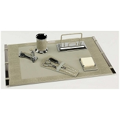 Paolo Guzzetta Deluxe Leather Desk Set - Fluoride Mini Crocodile