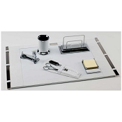 Paolo Guzzetta Deluxe Leather Desk Set - White Mini Crocodile