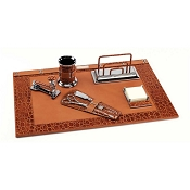 Paolo Guzzetta Deluxe Leather Desk Set - Classic Crocodile