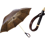 Pasotti Brown Speckled Animalier Women's Umbrella