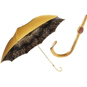 Pasotti Mustard with Dark Interior Animalier Women's Umbrella