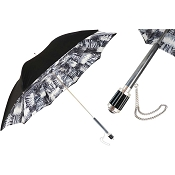 Pasotti Black and White Animalier Women's Umbrella