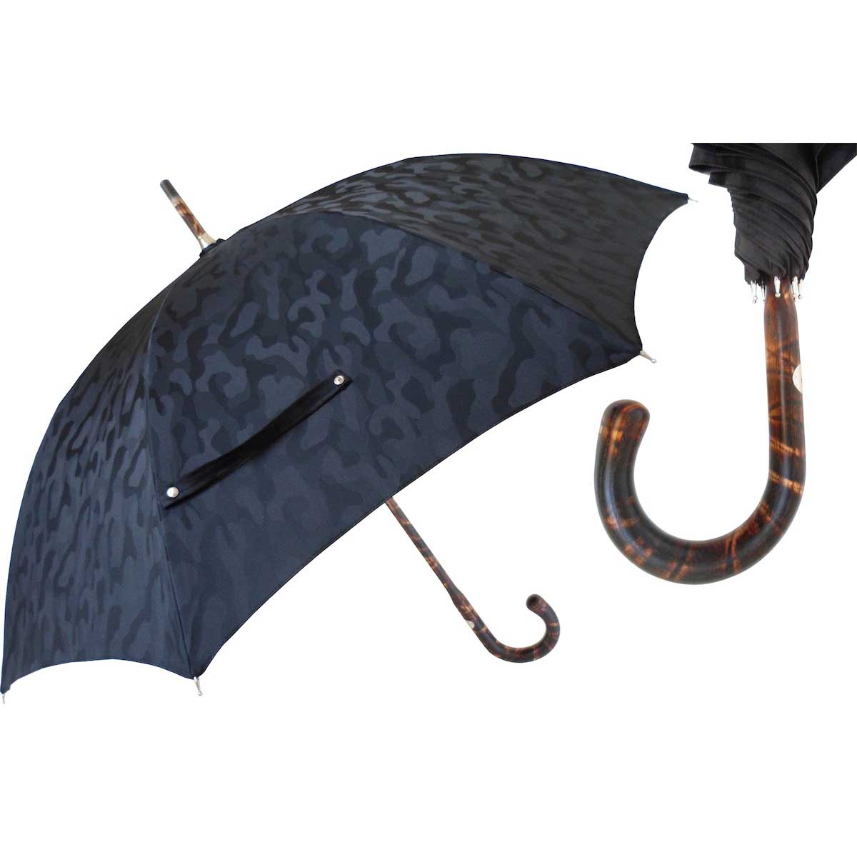 Pasotti Ombrelli Black Camouflage Bespoke Men's Umbrella