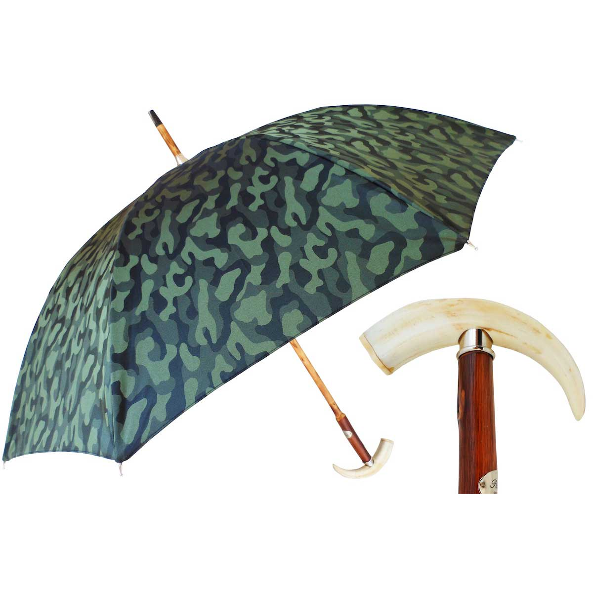 49863a52d Pasotti Ombrelli Warthog Tooth Green Camouflage Men's Umbrella