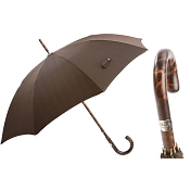 Pasotti Men's Bespoke Brown Solid Hickory Stick Umbrella