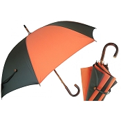 Pasotti Ombrelli Bi-Color Green & Orange Bespoke Men's Umbrella