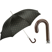 a4f6c3cf3 Pasotti Men's Bespoke Artisanal Italian Umbrella with Leather Handle