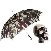 Pasotti Ombrelli Camouflage Umbrella - Skull Handle