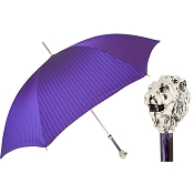 Pasotti Ombrelli Purple Men's Umbrella - Silver Lion