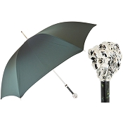 Pasotti Ombrelli Green Men's Umbrella - Silver Lion