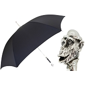 Pasotti Ombrelli Black Men's Umbrella - Silver Chimp