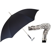 Pasotti Ombrelli Black Men's Umbrella - Dragon
