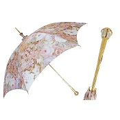 Pasotti Flowered Parasol - Jeweled Brass Handle