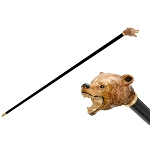 Pasotti Walking Cane - Brown Bear