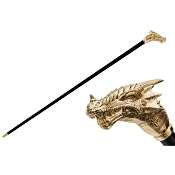 Pasotti Walking Cane - Golden Dragon