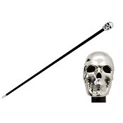 Pasotti Ombrelli Walking Cane - Sterling Silver Skull Handle