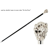 Pasotti Walking Cane - Sterling Silver Lion Handle