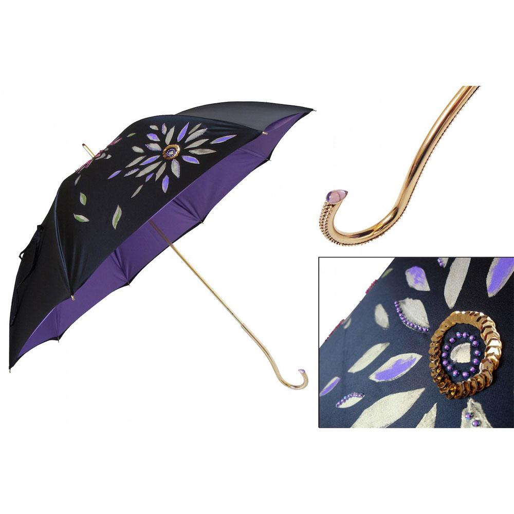 Pasotti Ombrelli Luxury Hand Painted Umbrella Double Cloth