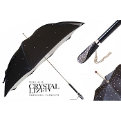 Pasotti Ombrelli Swarovski Crystals On Black Luxury Women's Umbrella