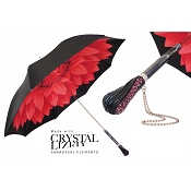Pasotti Ombrelli Dahlia Red and Black Luxury Women's Umbrella