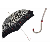 Pasotti Ombrelli Zebra Black Rose Lace Luxury Women's Umbrella