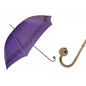 Pasotti Ombrelli Ring of Gems on Purple Luxury Women's Umbrella