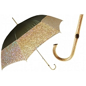Pasotti Ombrelli Gold Lamé Luxury Women's Umbrella
