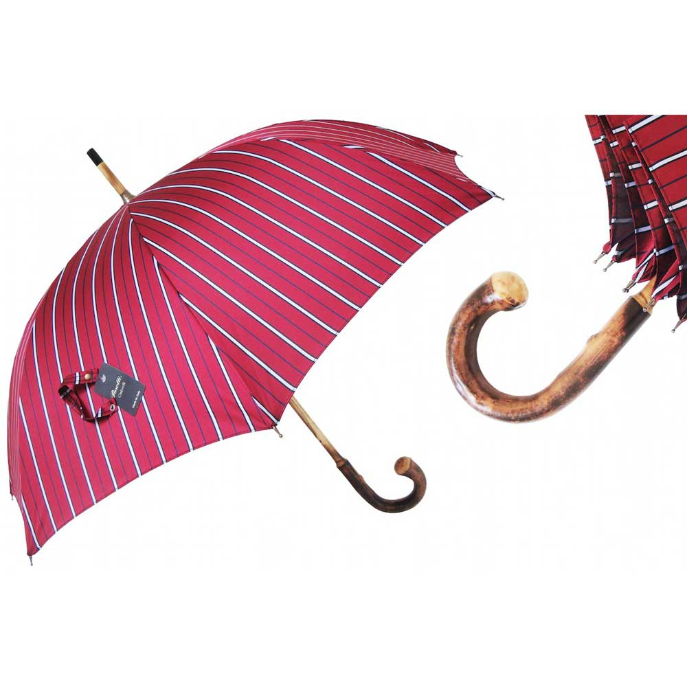 Pasotti Ombrelli Bruce 3 Men's Umbrella - Chestnut Handle