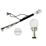 Pasotti Clear Faceted Swarovski® Crystal Ball Shoehorn