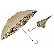 Pasotti Ombrelli Gold to Black Women's Umbrella - Leopard Print