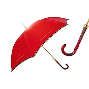 Pasotti Ombrelli Red Cheetah Piping Women's Umbrella