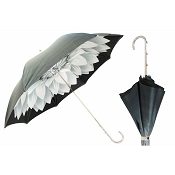 Pasotti Ombrelli Dahlia White Graduated Grey/Black Women's Umbrella