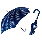 Pasotti Navy with White Polka Dots Women's Umbrella